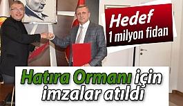 Eskişehirspor Hatıra Ormanı için imzalar atıldı