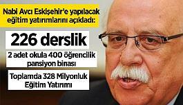 Nabi Avcı Eskişehir'e yapılacak eğitim yatırımlarını açıkladı