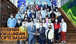 """Özel EOSB Mesleki ve Teknik Anadolu Lisesine """"Altın Meşale"""" ödülü"""