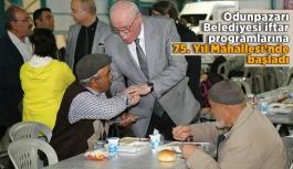 Odunpazarı Belediyesi iftar programlarına 75. Yıl Mahallesi'nde başladı
