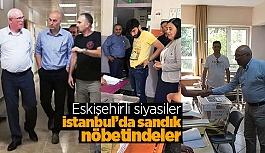 İstanbul'da sandık nöbetindeler