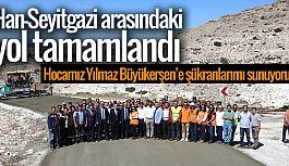 30 KİLOMETRELİK BETON YOL TAMAMLANDI