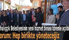 Mihalıççık'ta belediyenin yeni hizmet binası açıldı