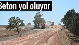 YENİKENT-YAZIDERE YOLU DA BETON YOL OLUYOR