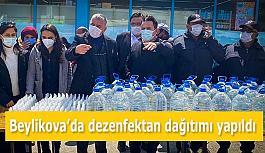 Beylikova'da dezenfektan dağıtımı...