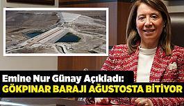 AK Partili Günay açıkladı: Gökpınar Barajı ağustosta bitiyor