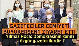 Eskişehir Gazeteciler Cemiyeti'nden  Başkan Büyükerşen'e ziyaret