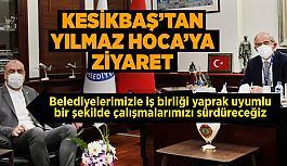 ESO Başkanı Celalettin Kesikbaş, Büyükşehir Belediye Başkanı Prof. Dr. Yılmaz Büyükerşen'i ziyaret etti