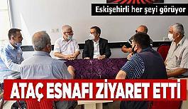 Ataç'tan kent esnafına ziyaret