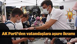 AK Parti'den vatandaşlara aşure ikramı