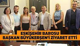 Eskişehir Barosu  Başkan Büyükerşen'i ziyaret etti