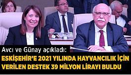 Eskişehir'e 2021 yılında hayvancılıkta verilen destek 39 milyon lirayı buldu