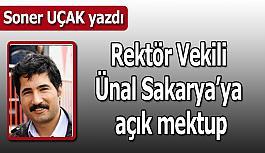 Rektör Vekili Ünal Sakarya'ya açık mektup