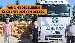 Yangın bölgelerine  Eskişehir'den yem desteği