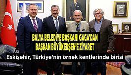 Balya Belediye Başkanı Gaga  Başkan Büyükerşen'i ziyaret etti