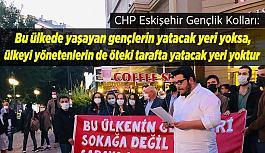 CHP'den barınamayan gençlere destek