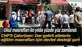 CHP'li Çakırözer: Yüzde 21 büyüme okul alışverişine çıkan ailelerin cebine uğramadı