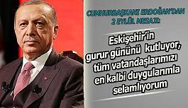 Cumhurbaşkanı Erdoğan'dan 2 Eylül mesajı