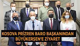Kosova Prizren Baro Başkanından Büyükerşen'e ziyaret