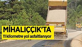 Mihalıççık'ta asfalt sathi kaplama