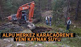 Alpu Merkez Karacaören'e  yeni kaynak suyu
