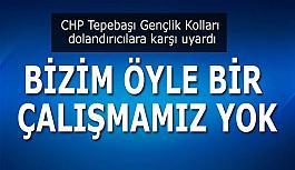 CHP Tepebaşı Gençlik Kolları dolandırıcılara karşı uyardı
