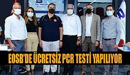 Eskişehir OSB Müdürlüğünde aşı çalışmasından sonra ücretsiz PCR testi çalışması da başladı