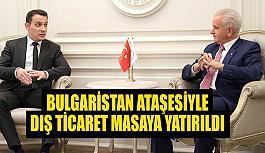 ETO Başkanı Metin Güler'in, Bulgaristan'ın Ankara Ticaret Ataşesi Svetoslav Kirkov ile bir raya geldi