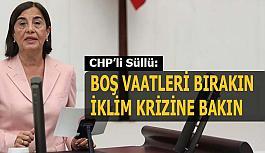 Jale Nur Süllü:  İklim adaleti konusunda Cumhuriyet Halk Partisi olarak mücadeleye devam edeceğimiz