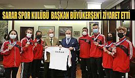 Sarar Spor Kulübü tekvando sporcuları Başkan Büyükerşen'i ziyaret etti